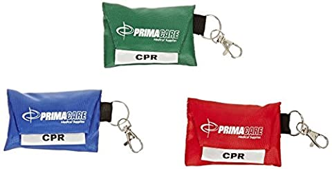 CPR Shield Barrier Pocket Masks In Keyring Pouch - 3 (Mask Pouch)