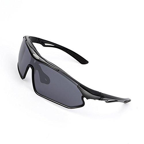 SPOSUNE TR90 Polarized Sports Sunglasses Men Women Ergonomics Running Glasses Baseball Cycling Fishing Dricing Golf Eyewear UV400 Protection PC Lens Adujustable Nose pad