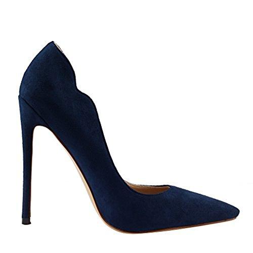 Dark Zeppa suede Blue donna con Sandali Jushee wU1HRR