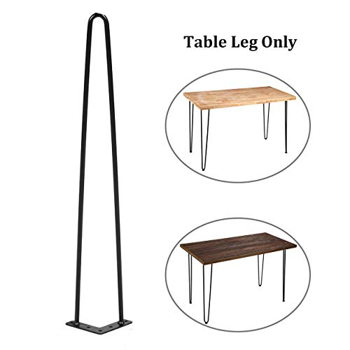 Sumerflos Home Office Desk Workbench Legs- 28'' Heavy Duty Hairpin Legs for 47'' Pine Wood Table Top with Pre-drilled Holes, Easy Assembly (Table Legs Only, Set of -