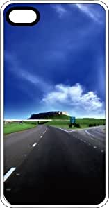 Lonely Highway Heading Towards The Horizon White Plastic Case for Apple iPhone 4 or iPhone 4s