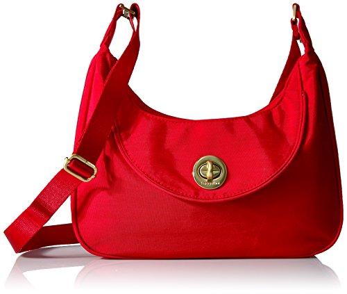 Baggallini Oslo Small Hobo, Poppy Red