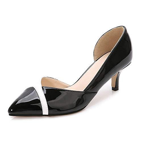 Women's Fashion Classic Pointy Toe Low Kitten Heel Office Dress Slip On Pump ()