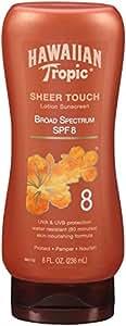 Hawaiian Tropic Sunscreen Protective Dark Tannning Broad Spectrum Sun Care Sunscreen Lotion - SPF 8, 8 Ounce