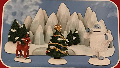 Rudolph the Red Nosed Reindeer Lighting The Christmas Star (Dept 56 Set of 4)