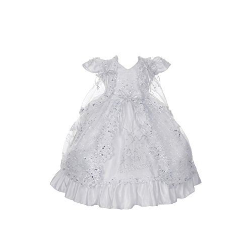 White Angels Embroidered Dress - 8
