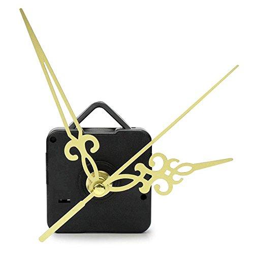 Mostsola Hands DIY Quartz Wall Clock Movement Mechanism Replacement Parts Kit (Gold)