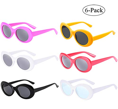 5c137fb9d8121 Retro Oval Mod Thick Frame Clout Goggles Kurt Cobain Sunglasses