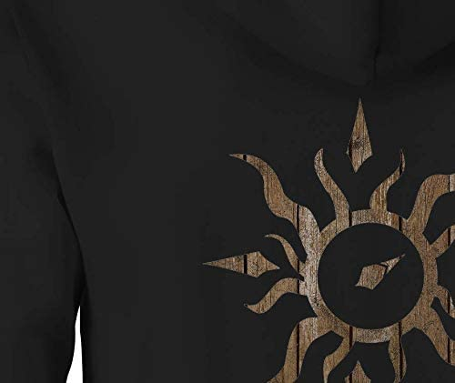 Zip Up Hoodie Live Your Life Tribal Sun Compass Distressed Wood