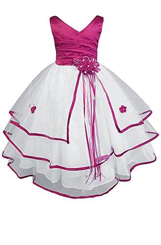 Pasqua Inc Ragazza Abiti Nuziale Comunione Spettacolo Cerimonia Di Fiore Amj girls' Little Dalla Vestito Fucsia 0Cq5wB