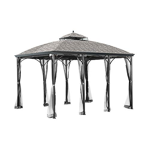 Garden Winds Replacement Canopy for The Somerset Gazebo – Standard 350 – Damask Beige