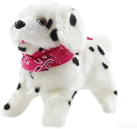 Haktoys My Little Puppy - Flip over Puppy, Walks, Sits, Barks, Somersaults - Dalmatian Dog Toy