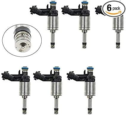 6ピースフィットGMシボレーカマロトラバースGMCアカディアCTS 3.6燃料インジェクター12638530 12632255 12611545