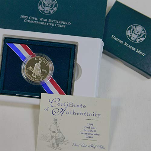 War Commemorative Half Dollars - 1995 P Commemorative Half Dollar Civil War Battlefield .50 Proof US Mint