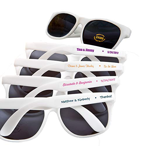 Fashioncraft, Custom Personalized Wedding Party Bridal Shower Favors Gift, Trendy Sunglasses, Set of 36