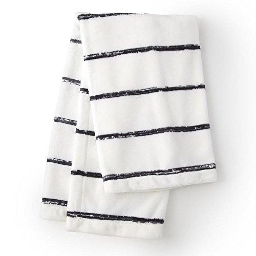 [Levtex Baby Bailey Charcoal Striped Plush Blanket] (Bailey Rug Collection)