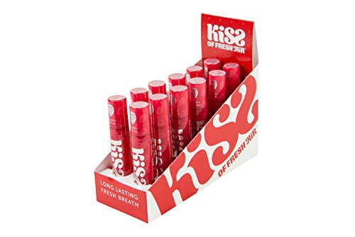 Air Kiss (Kiss of Fresh Air 12 ct. Box of Strawberry Breath Spray)