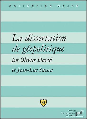la dissertation de géopolitique puf