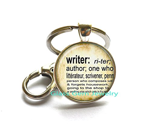 Keychain Definition (Writer Keychain vintage dictionary definition of Writer word Key Ring word Writer jewelry)