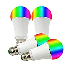 """GreenDot Smart WiFi Multi-Colored Adjustable Dimmable LED Light Bulb - Compatible with Alexa & Google Assistant, No Hub Required, 7W (50W Equivalent), E26 Full Compatibility Voice Control Amazon Alexa and Google Home: """"Turn On/Off Bedroom..."""