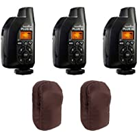 3 Pcs PocketWizard Plus III Transceiver 801-130 Relay Radio Slave Transmitter Receiver + 2 Carrying Cases