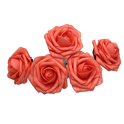 50 pcs Artificial Flowers Foam Roses for Bridal