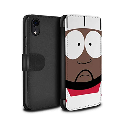 eSwish PU Leather Wallet Flip Case/Cover for Apple iPhone XR/Chef Design/Funny South Park Inspired Collection (South Park The Stick Of Truth Chef)