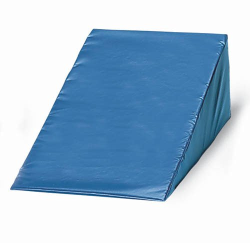 Crown Medical Vinyl Covered Foam Wedge, 12 X 24 X 28 Inch, Navy, 4.42 Pound
