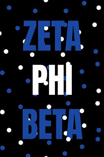 ZETA PHI BETA: BLANK LINED JOURNAL, SORORITY SISTER, ZETA PHI BETA MERCHANDISE