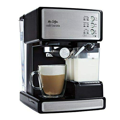 Espresso Maker Coffee Machine Mr. Barista Cafe Cappuccino Latte with Automatic Milk Frother