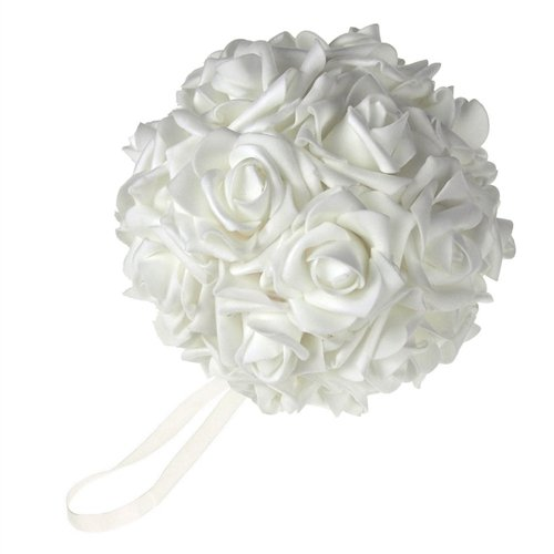 Homeford Firefly Imports Soft Touch Foam Kissing Ball Wedding Centerpiece Red, 7-Inch
