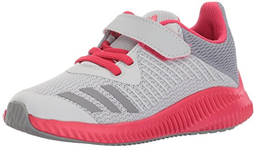 Price comparison product image adidas Originals Girls' Fortarun EL Running Shoe, Grey Two/Grey Three/Energy Pink, 1 Medium US Little Kid
