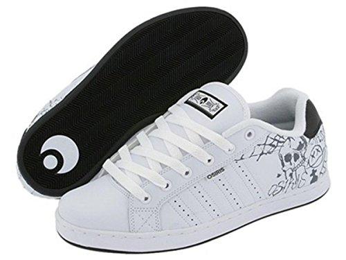 Osiris Skateboard Shoes Troma White/Black/Horror Show, Schuhgrösse:33