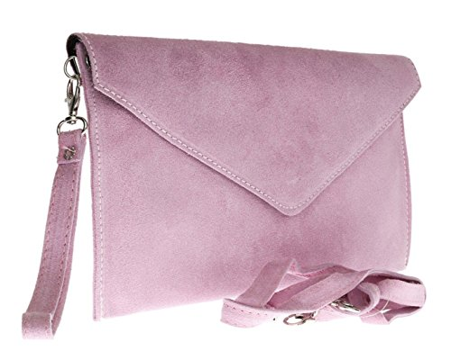 Rebecca Verapelle Italian NEW Ladies Genuine Bag Clutch Womens Suede Clutch Womens Pink Shaped Envelope Light 5RRFxqPwt