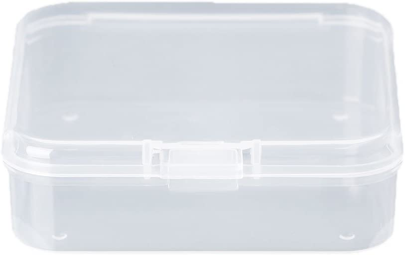 SimpleLife Square Clear Jewelry Cajas de almacenaje Beads Crafts Case Containers-Plastic- 6x6x1.8cm