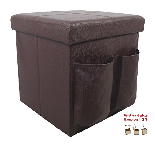 Wee's Beyond 1533-1B1 Brown Collapsible Storage Ottoman 15