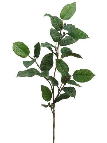 Artificial Lemon Leaf Spray - 27