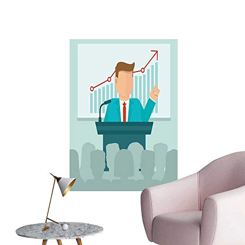 ers for Living Room Conference Concept in Flat Style Vinyl Wall Stickers Print,16