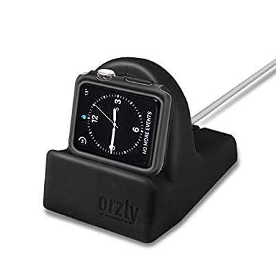Orzly Ultimate Pack for Apple Watch (38 MM) - Gift Pack Includes Orzly Compact Stand & Multi-Pack of 20 Assorted Colour Orzly FacePlates