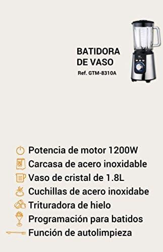 MyWave GTM-8310 Batidora de vaso profesional, 1200 W, 1.8 litros ...