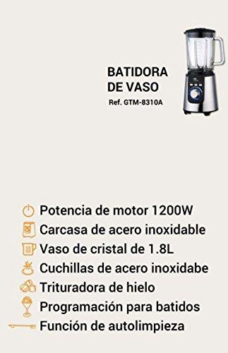 MyWave GTM-8310 Batidora de Vaso Profesional, 1200 W, 1.8 litros, Vidrio: Amazon.es: Hogar