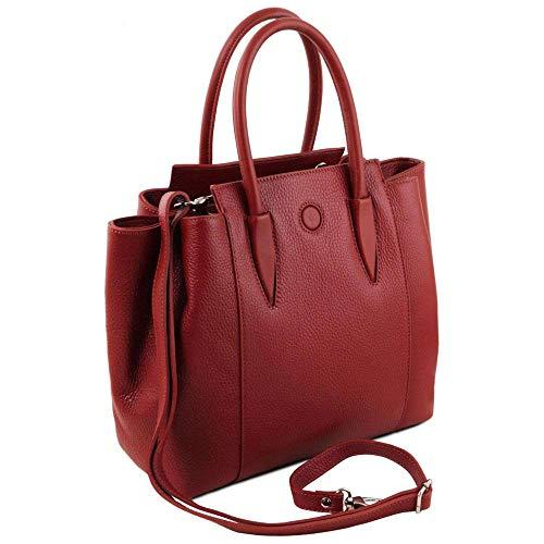 Leather Asas De Tl141727 Para Compact Mujer Cuero Tuscany Bolso Rojo xqdIqC