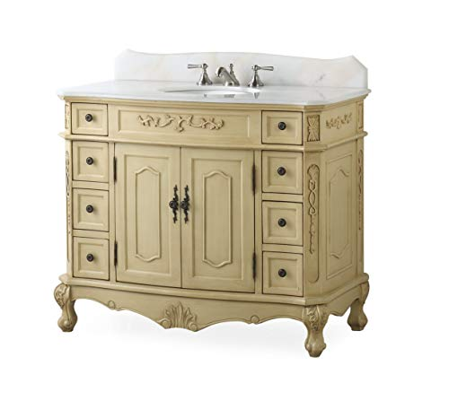 "42"" Traditional Style Fairmont Bathroom Sink Vanity Model ()"