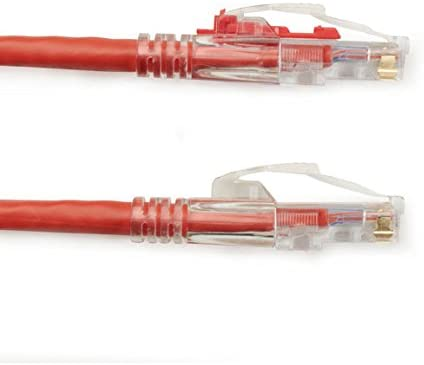Black Box 10FT Red CAT6 550MHz Patch Cable UTP CM Locking Snagless