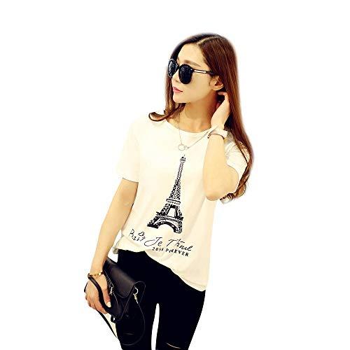 Dressin Shirts for Women, Womens Casual Sport Eiffel Tower Print Tees Short Sleeve Round Neck Tops T Shirt Tunic ()