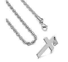 Amazon.com: FZTN Jewelry - Collar de oro para hombre y mujer ...