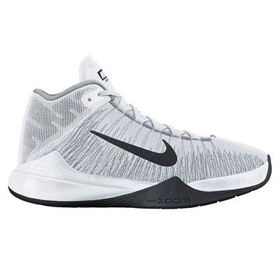 Nike Zoom Ascention Basketball Shoe  WhiteBlackWolf Grey