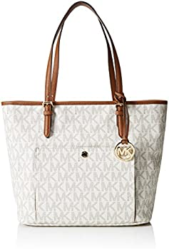 Michael Kors Jet Set Large Top Zip Snap Pocket Tote