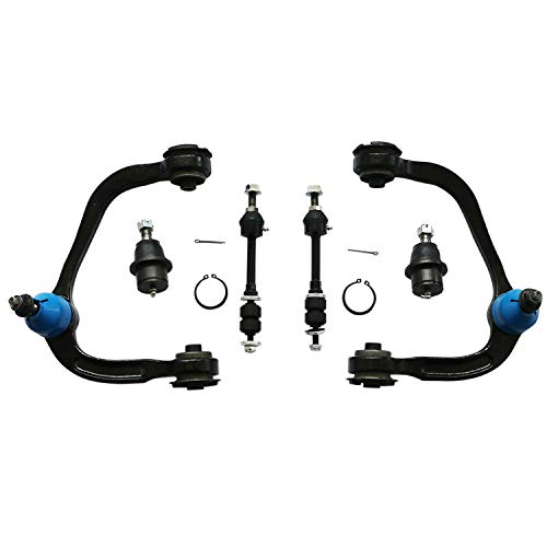 Titaniarm New 6 Pcs Front Suspension Kit - Drivers&Passengers Side Upper Control Arm with bushings & ball joint,Front Sway Bar Stabilizer Links and Lower Ball Joints (Upper Control Arm F150 2006)