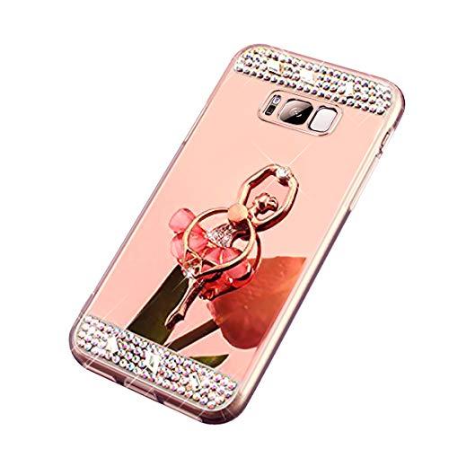 S5 Samsung Galaxy Cover Poudre Silicone S5 Neo Ekakashop Cristal Coque Clear Anti et Coque Bling Luxe pour Fée Scintillante Galaxy étui Shiny Carré de Strass Rose Paillettes Miroir Mirror Argent Clair Or en Brillant q0qSwXY